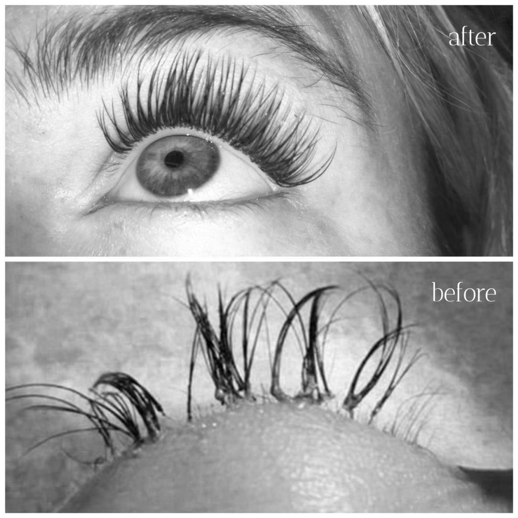 Hampton Lashes  – Before and After Lash Restoration